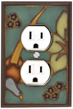Bird on Branch Ceramic Light Switch Plates