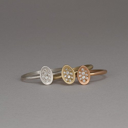 Pave Egg Ring