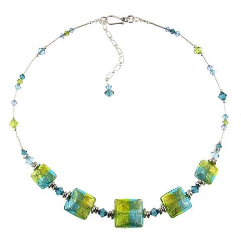 "Venetian Glass ""Brazilian Beach Party"" Necklace"