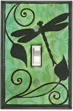 Dragonfly Silhouette Light Switch Plates