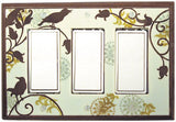 Songbirds-Pattern Ceramic Light Switch Plates