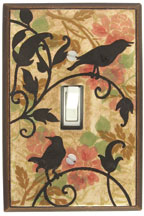 Vintage Songbirds Ceramic Light Switch Plates