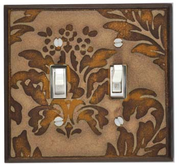 Damask-Stone Ceramic Switch Plates