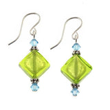 "Venetian Glass ""Island Breeze"" Earrings"