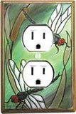 Dragonfly Ceramic Switch Plates