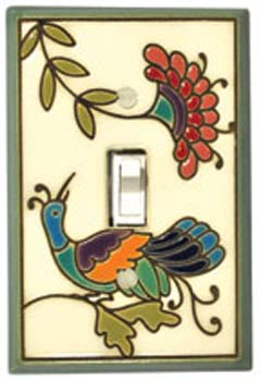 Fantasy Bird Ceramic Light Switch Plates