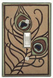 Feathers Ceramic Light Switch Plates