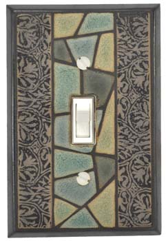 Flagstone Ceramic Light Switch Plates