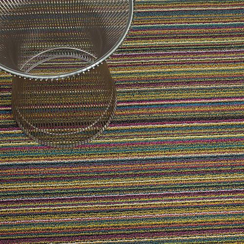 Skinny Stripe Bright Multi Shag Mat