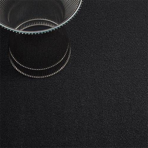 Solid Black Shag Mat