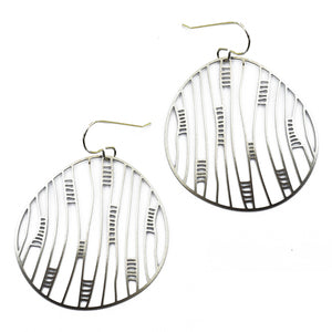 Round Linear Earrings