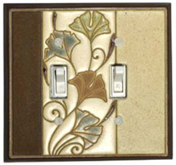 Ginkgo Ceramic Light Switch Plates