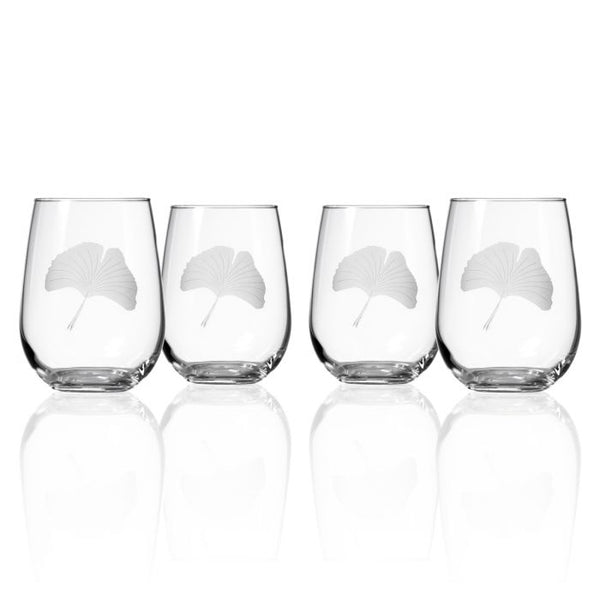 Ginkgo Stemless Wine Glass