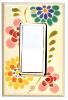 Glass Flowers Switch Plates