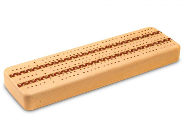 Maple Inlay 3 Track Cribbage Board