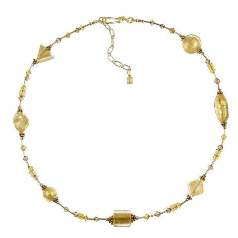 "Venetian Glass ""Gold Rush"" Necklace"