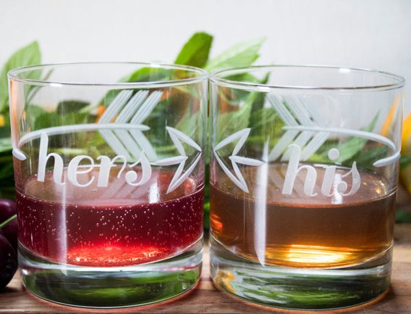 Couples Cocktail Glasses