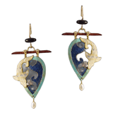 Aqua, Ocean and Pearl Earrings