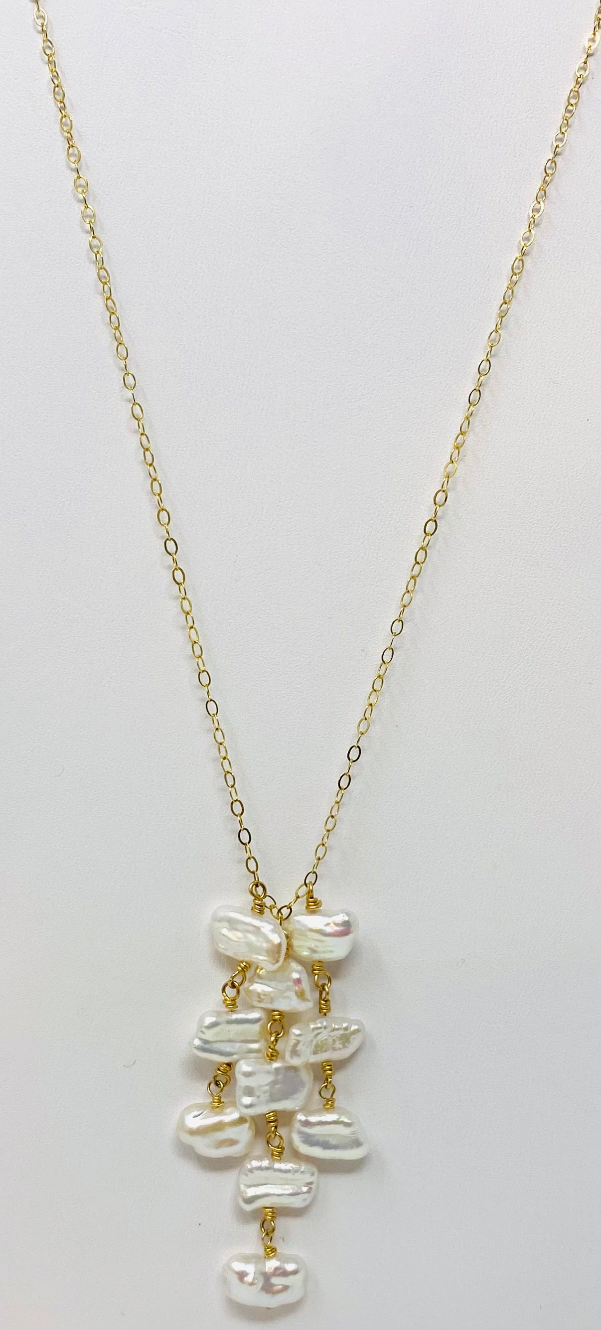 Gold Filled Pearl Necklace