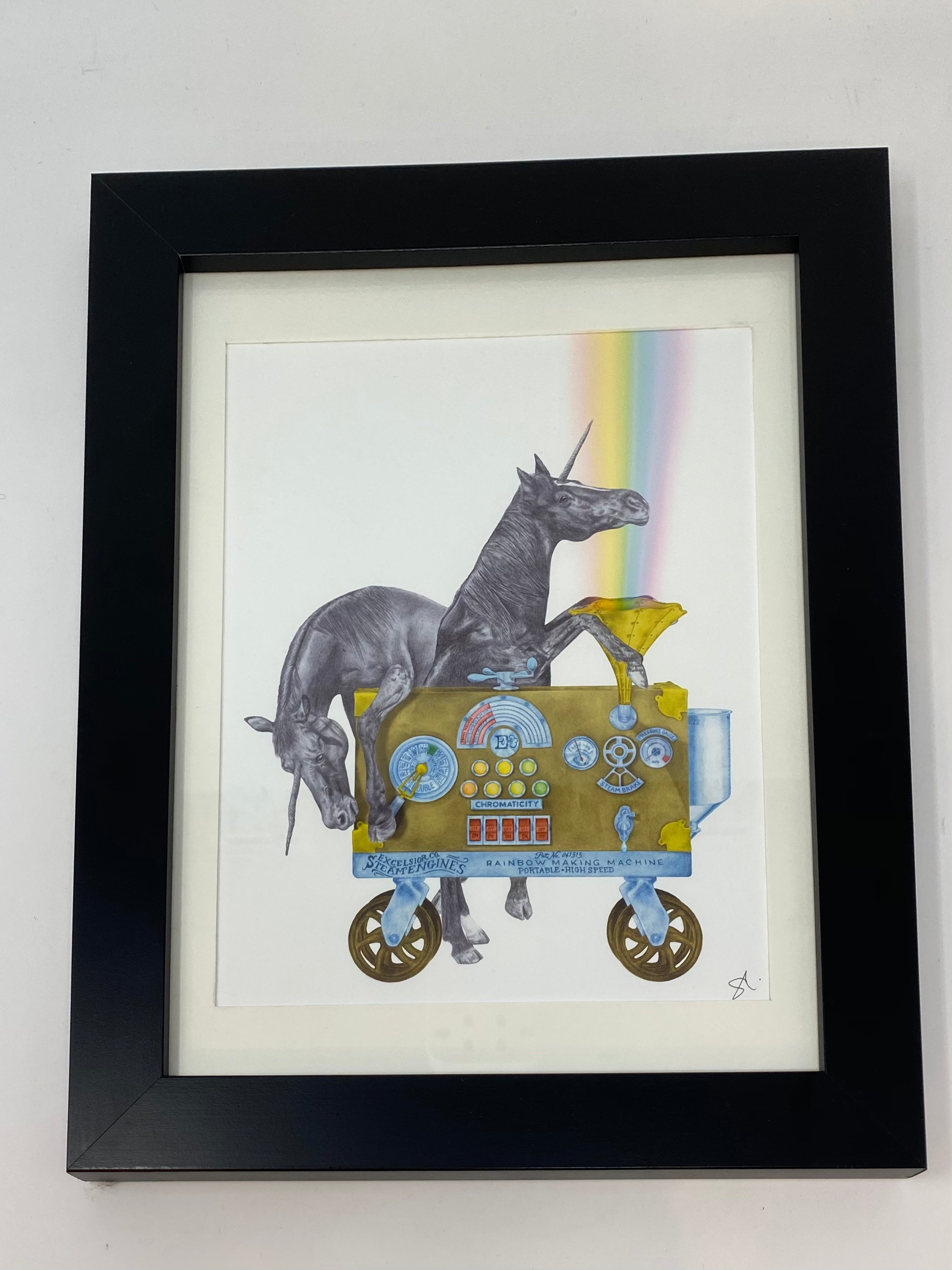 Ruby Jezebel & Jackpot Flame Unicorn Art Print