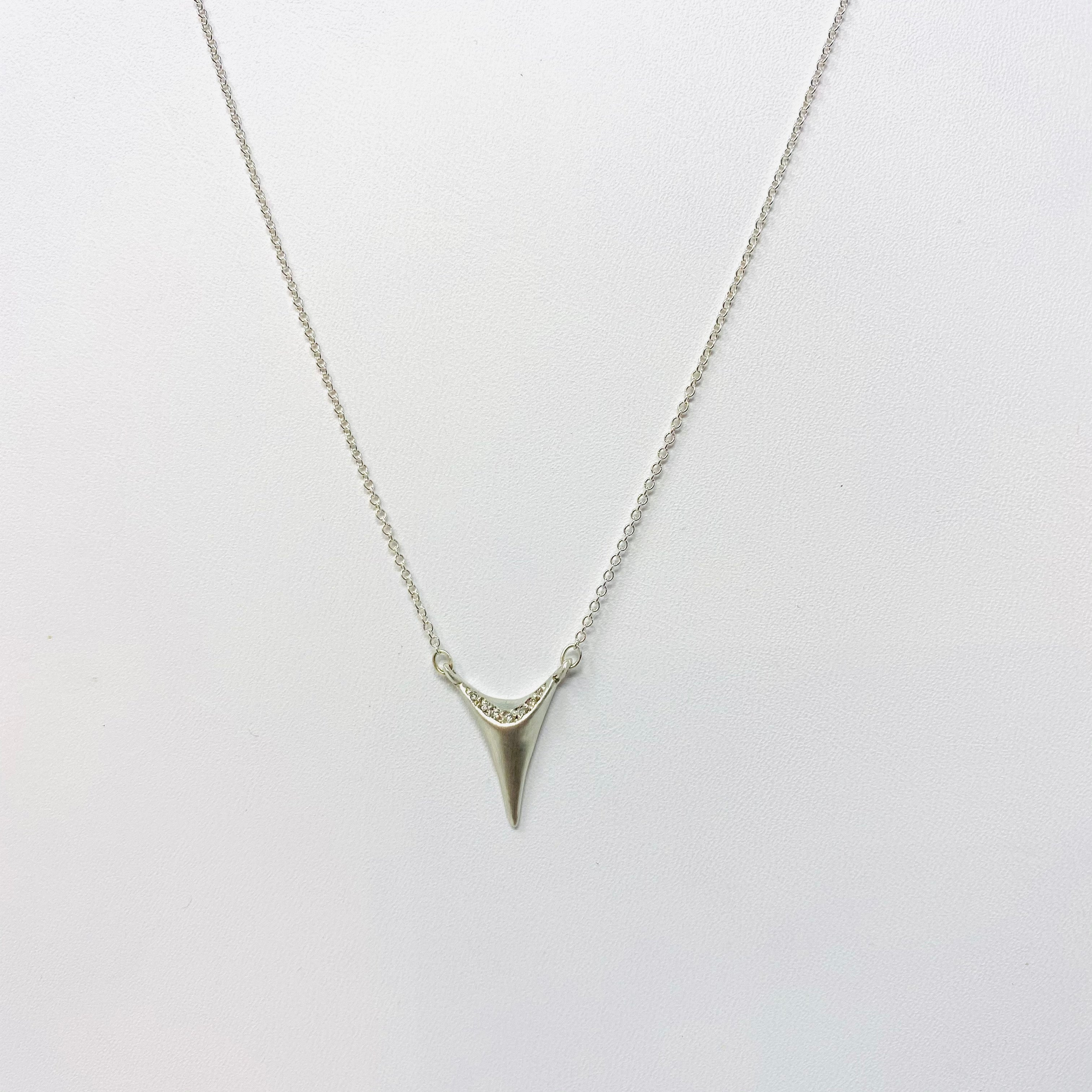 Silver Tooth Necklace Necklace