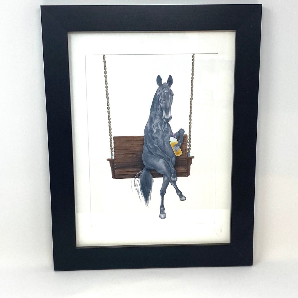 Miami Clementine Horse Framed Art Print