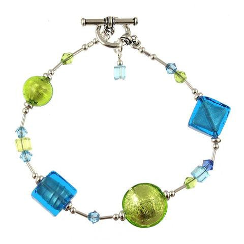 "Venetian Glass ""Island Breeze"" Bracelet"