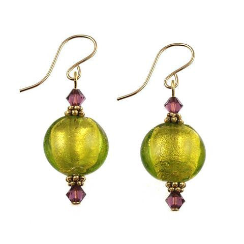 "Venetian Glass ""Autumn Breeze"" Earrings"