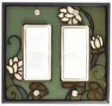 Lily Pad Ceramic Light Switch Plates