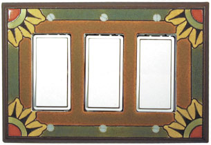 Malibu Ceramic Switch Plates