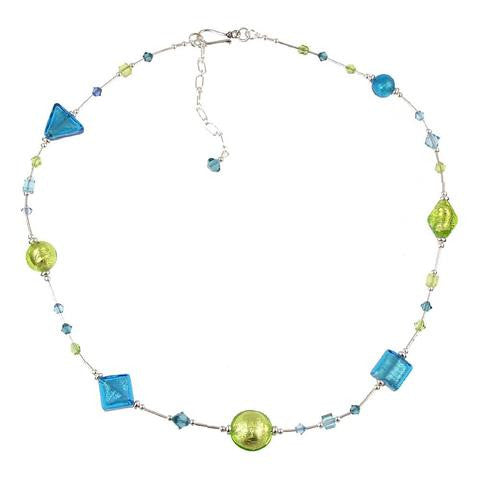 "Venetian Glass ""Island Breeze"" Necklace"