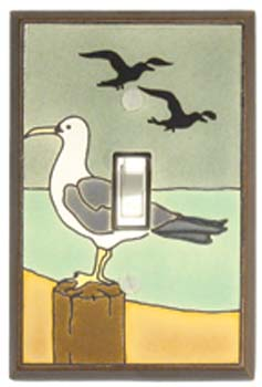 Sea Gull Ceramic Switch Plates