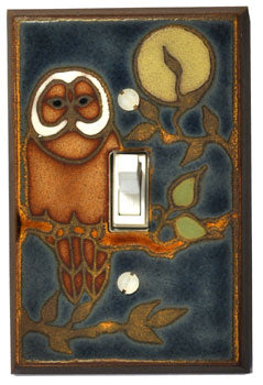 Owl Ceramic Light Switch Plates