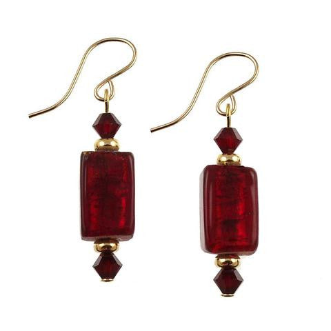 "Venetian Glass ""Red Delicious"" Earrings"