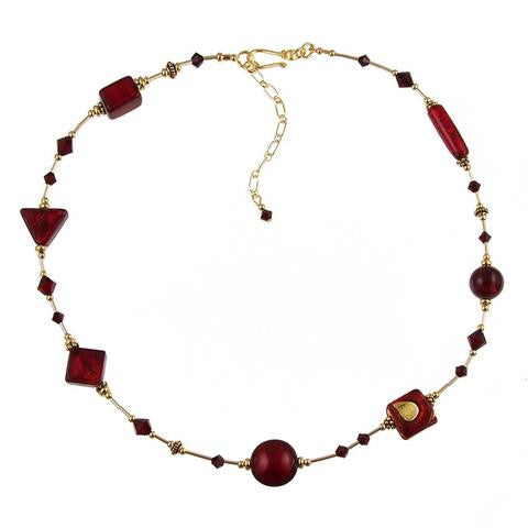 "Venetian Glass ""Red Delicious"" Necklace"