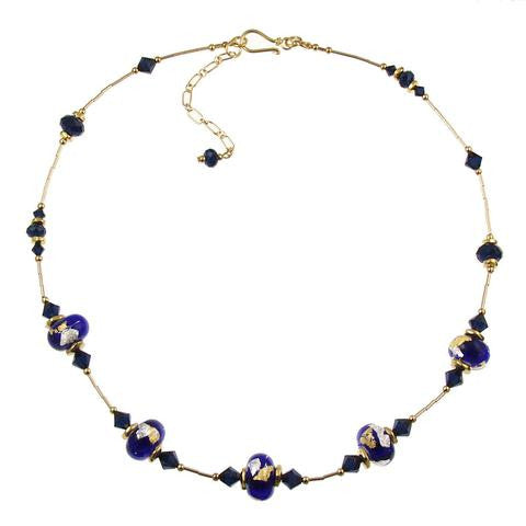 "Venetian Glass ""Rhapsody in Blue"" Necklaces"