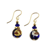 "Venetian Glass ""Rhapsody in Blue"" Earrings"
