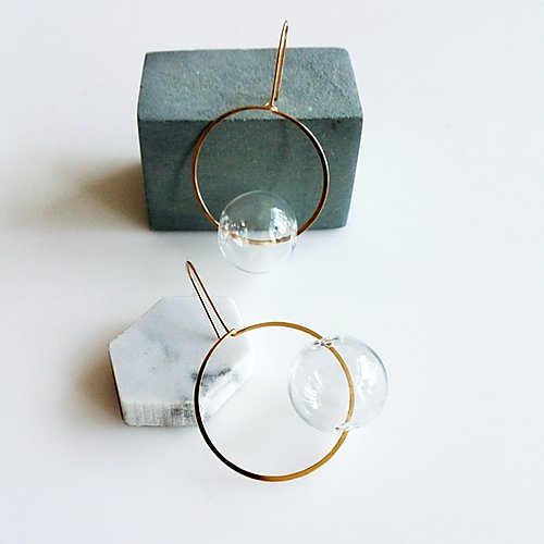 Round & Round Clear Earrings