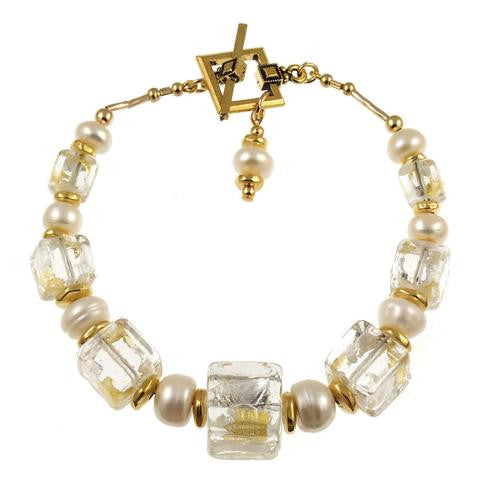 "Venetian Glass ""Sheer Elegance"" Bracelet"