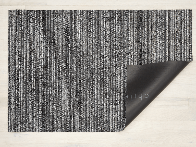 Skinny Stripe Shadow Shag Mat