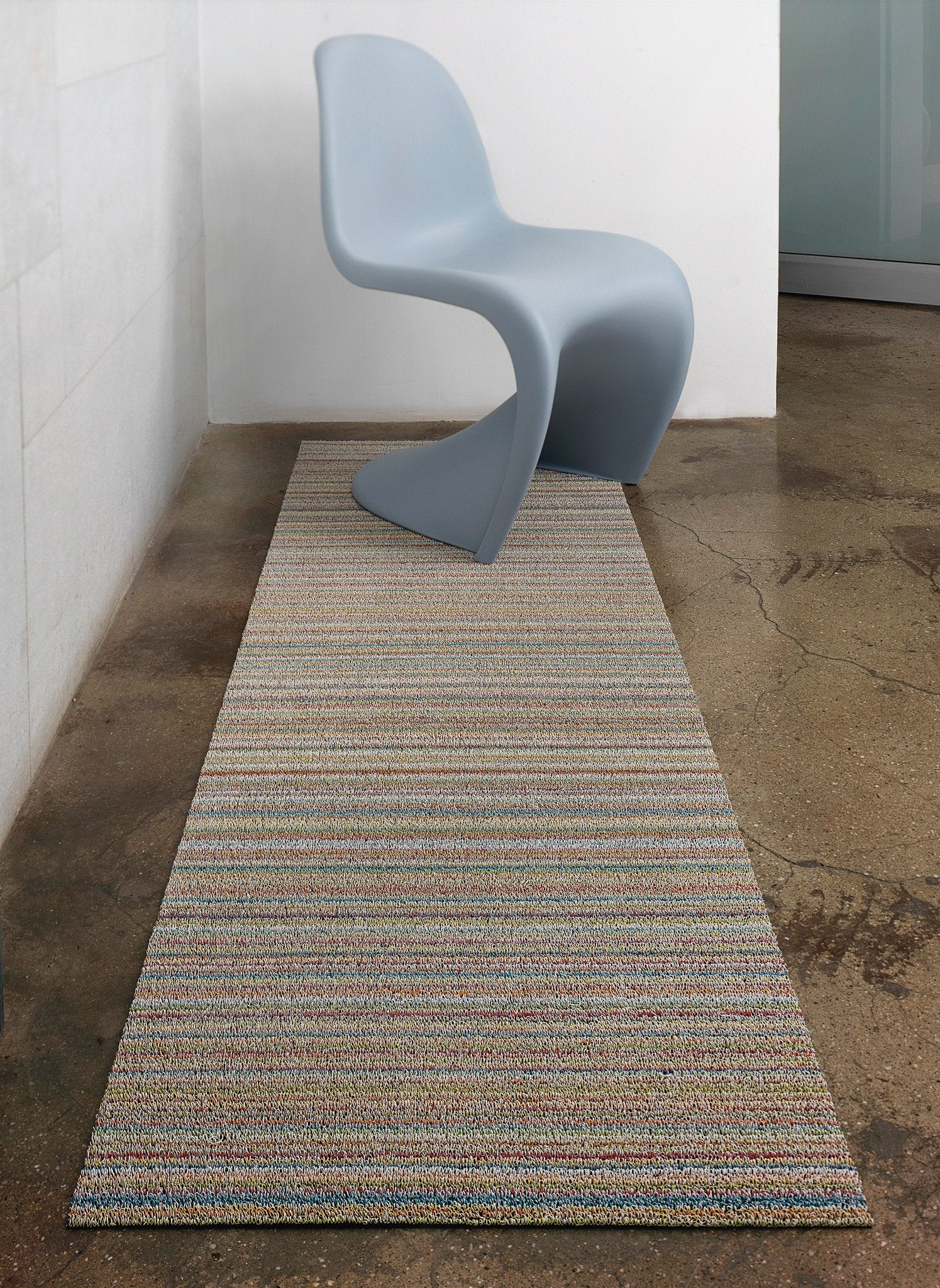Skinny Stripe Soft Multi Shag Mat