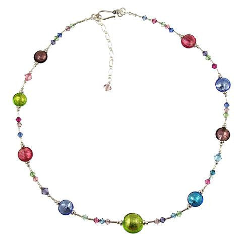 Venetian Glass Necklace Spring Colors