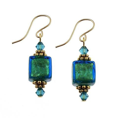 "Venetian Glass ""Teal We Meet Again"" Earrings"