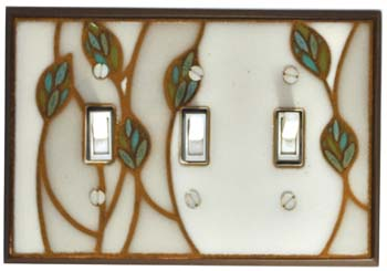 Three Leaves Ceramic Switch Plates