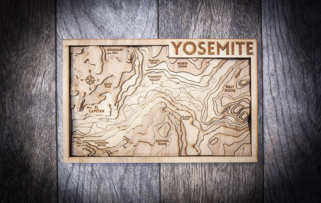 Yosemite 3D Wood Map