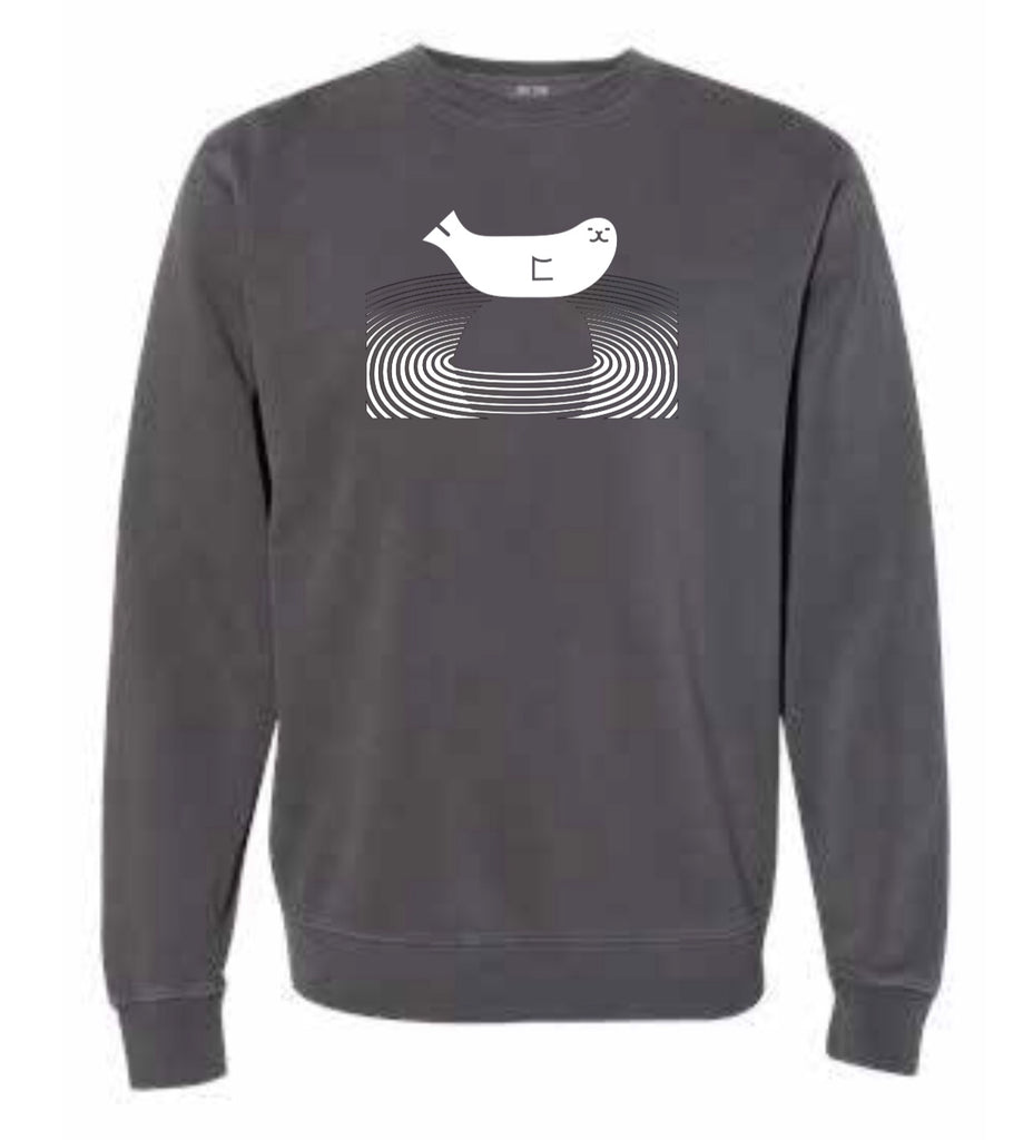 Zen Seal Gray Sweatshirt Unisex