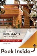 9781475421811 | Maryland Real Estate Practice & Law 14th Edition