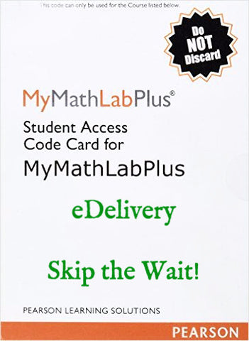 9780558926809 | Mymathlab Plus Standalone Access Kit ~ E-Delivery