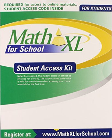 9780321600554 MATHXL for School | Student Access Kit