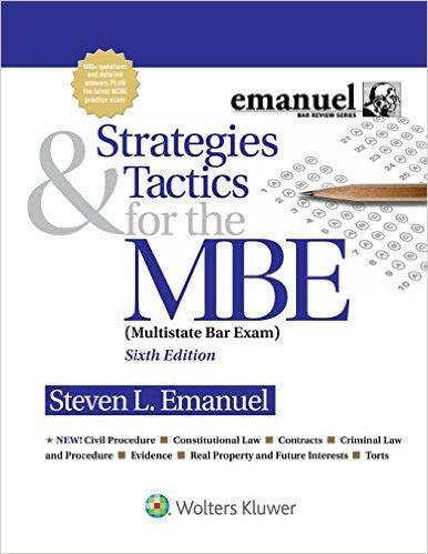 9781454873129 | Strategies & Tactics for the MBE (Emanuel Bar Review) 6th Edition